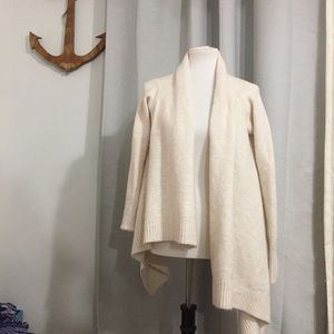 Zara knit asymmetrical cream cardigan small
